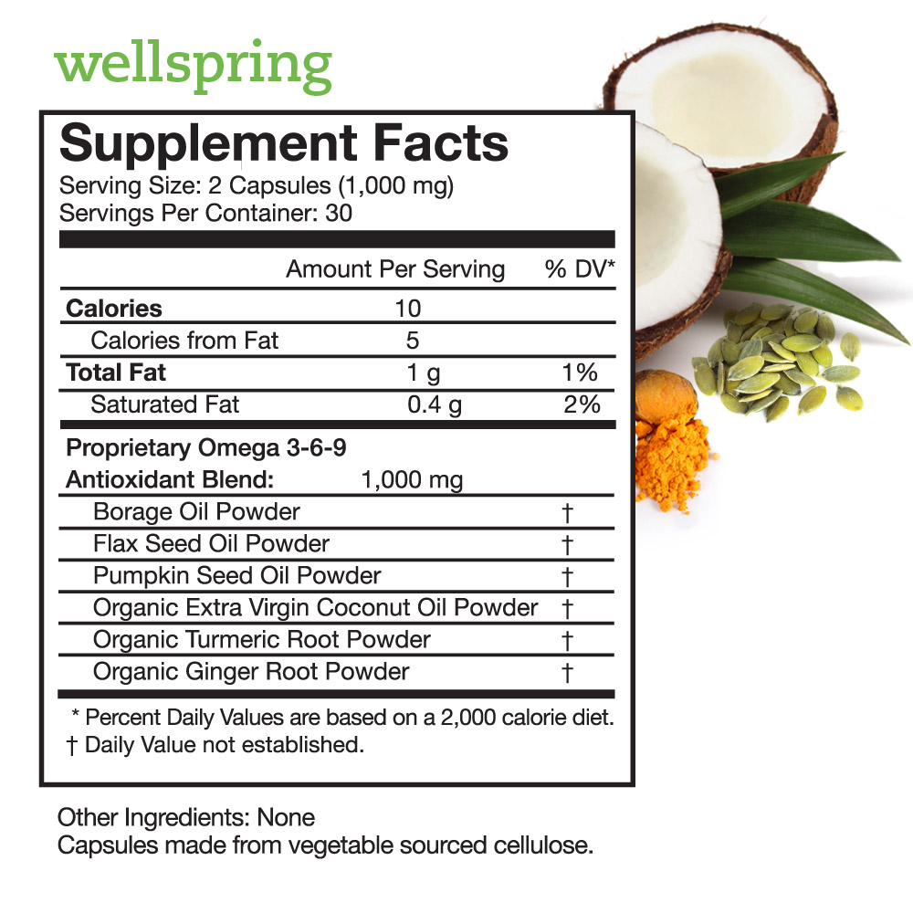 Wellspring Supplement Facts
